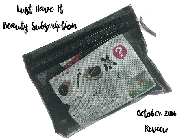 REVIEW: Lust Have It Beauty Subscription Box (October 2016)