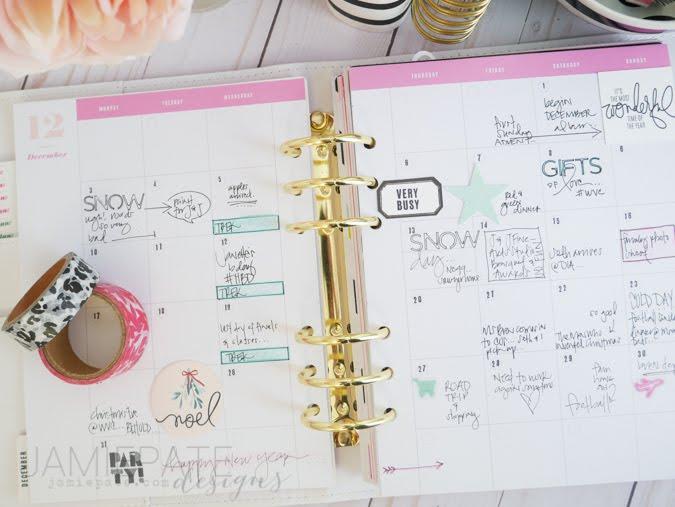 Heidi Swapp Planner Recap by Jamie Pate | @jamiepate
