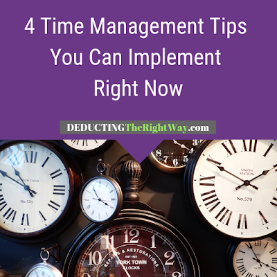 Time management strategies for small businesses | www.deductingtherightway.com