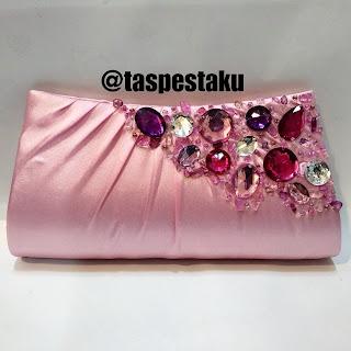 Clutch Bag Tas Pesta Handmade Baby Pink