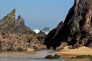 erosión, cantiles, acantilados, salvaje, océano, atlántico, Paisajes galicia, Munimara,