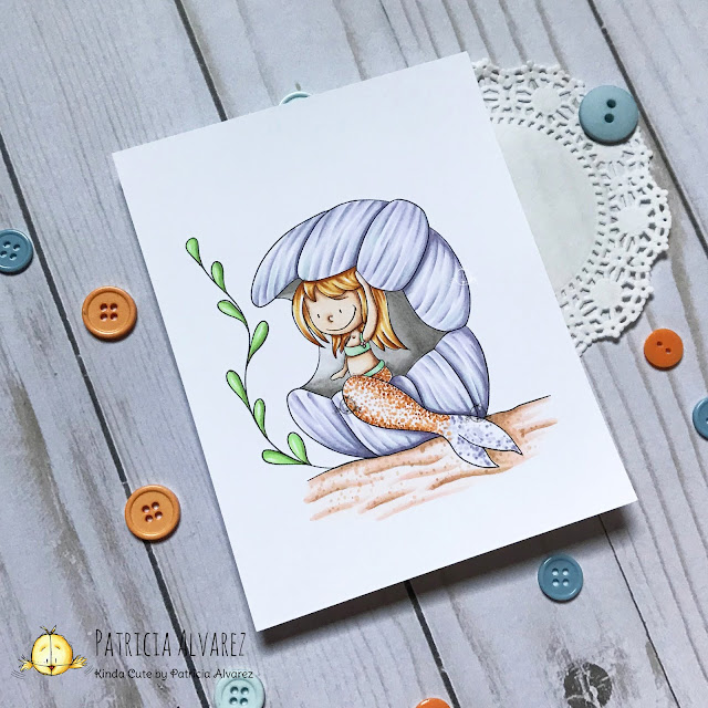 mermaid digital stamp from Kinda Cute by Patricia Alvarez