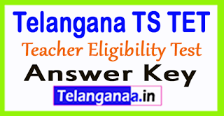 Telangana TS TET Answer Key 2017