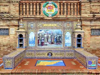 Plaza de España - Sevilla - Azulejo de Guipúzcoa