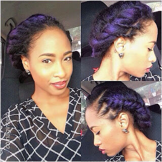 Purple highlights for natural hair