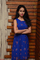 Pallavi Dora Actress in Sleeveless Blue Short dress at Prema Entha Madhuram Priyuraalu Antha Katinam teaser launch 031.jpg