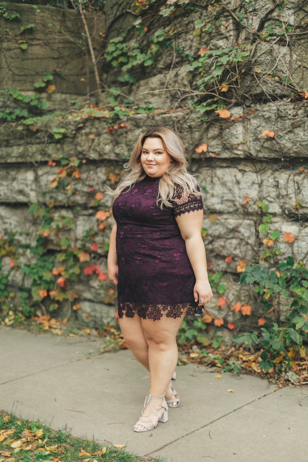 Chicago fashion blogger, natalie in the city, fall plus size fashion, fatshion, curves and confidence, Chicago plus size model, affordable plus size clothing, natalie craig, plus size clothes, yours clothing, cheap plus size clothes, plus size lace dresses, Chicago influencer