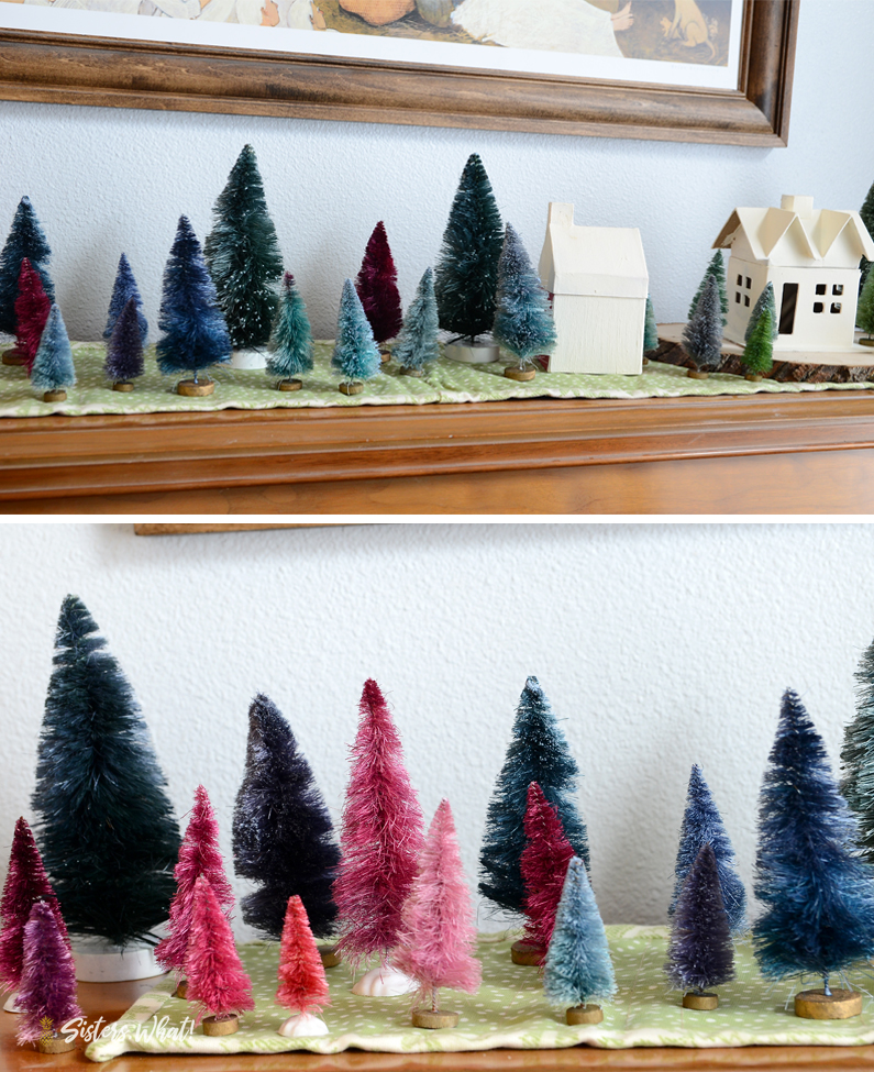 How to dye colorful mini christmas trees