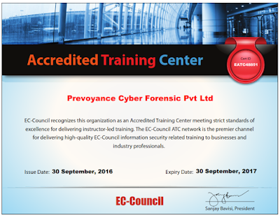 "Prevoyance Forensic Technologies become a ""EC-Council"" Accredited Training Partner"