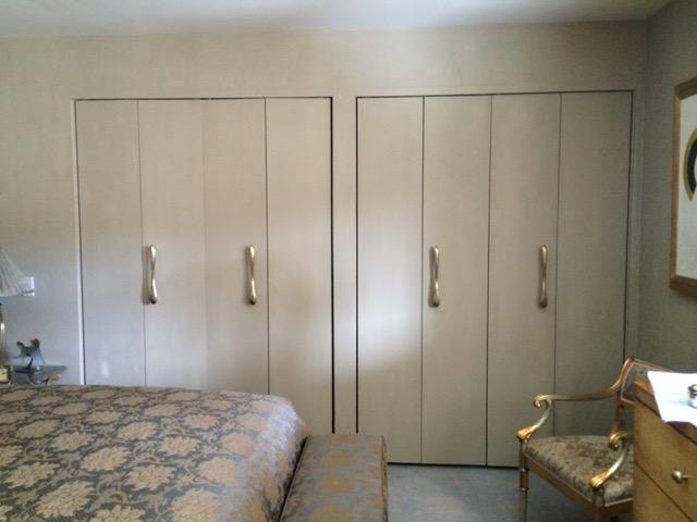 Closet doors before stenciling