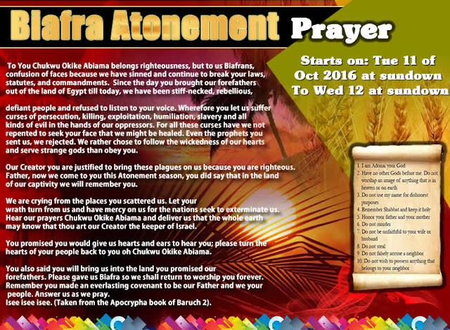 THE BIAFRA ATONEMENT DAY IS TODAY: Start at 6pm and end 6pm on the 12th 2016-Atonement-flyer-2016