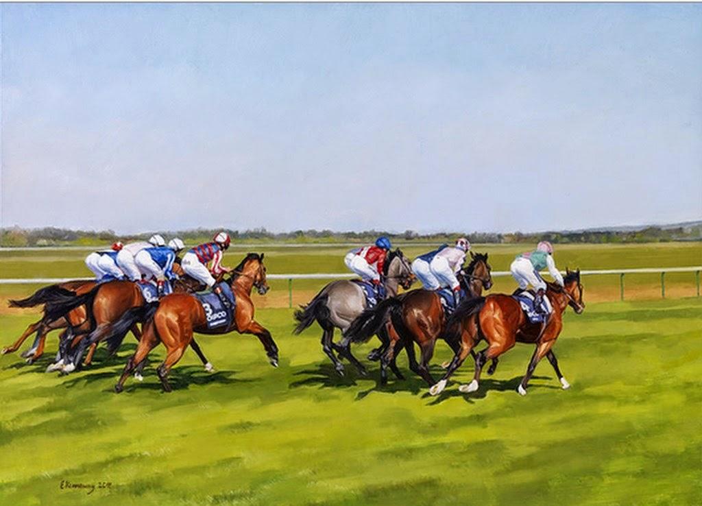 paisaje-con-caballos-pintados-al-oleo