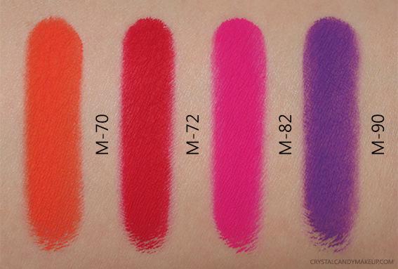 Make Up For Ever Aqua XL Color Paint M-70 M-72 M-82 M-90 Swatches