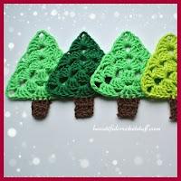 Arbolitos navideños a crochet