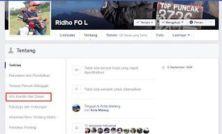 Cara Mengetahui Email FB Orang Lain