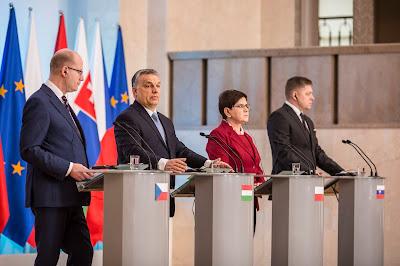Bohuslav Sobotka, Orbán Viktor, Beata Szydlo, Robert Fico, visegrádi négyek, V4, Románia, Európai Unió,