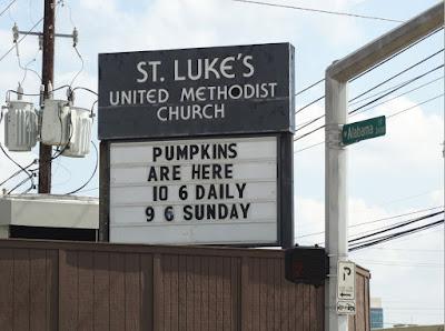 St. Luke's United Methodist Church: Pumpkins are here