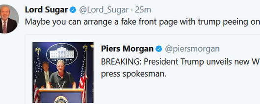 Lord Alan Sugar Vs Piers Morgan #2