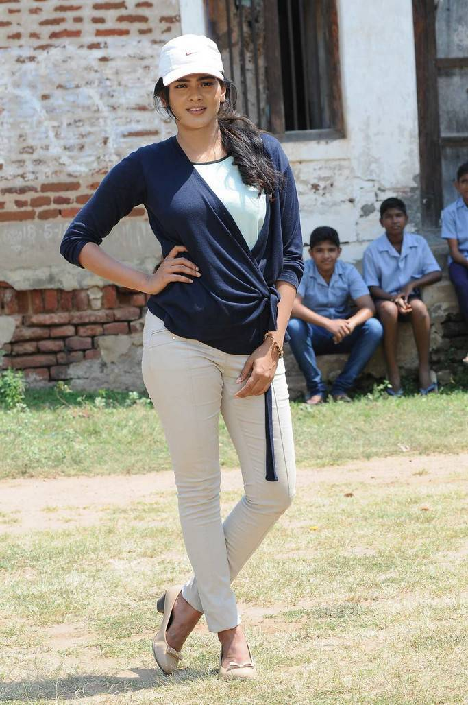 Hot Hebah Patel Playing Cricket Stills From Telugu Movie Angel