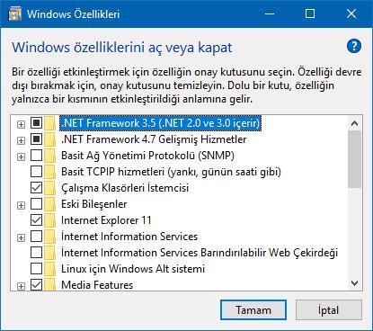 Windows Özelliklerini Tek Tık İle Aç-www.ceofix.com