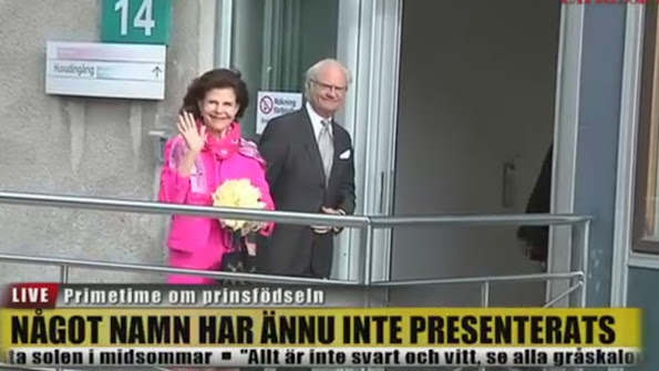 King Carl Gustaf and Queen Silvia arrived at the hospital in Danderyd