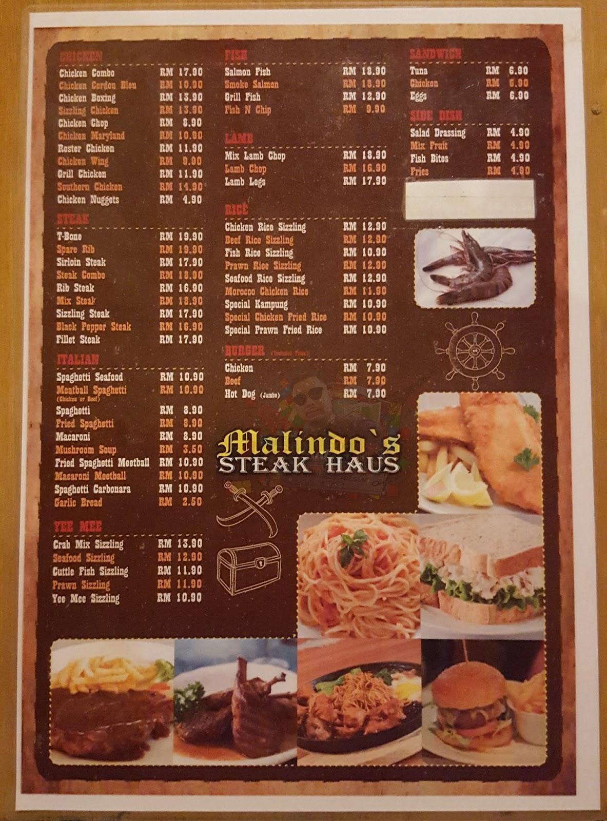 Daus Redscarz Western Food Murah Di Malindo S Steak Haus Ampang