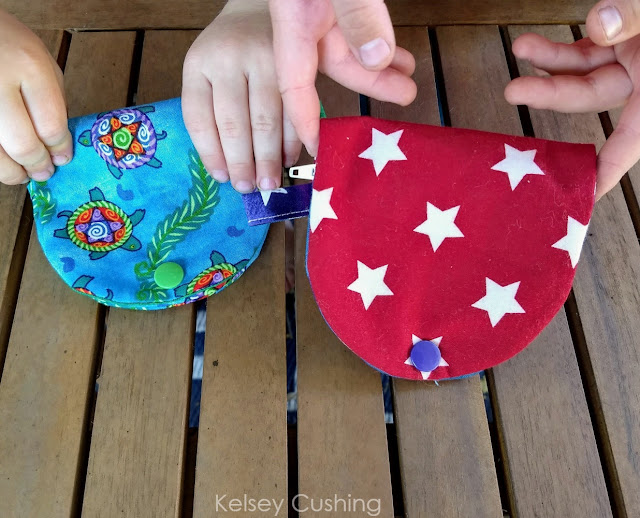 Half moon coin purse