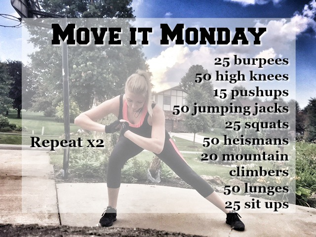 Mini workout, anywhere workout, no equipment required.