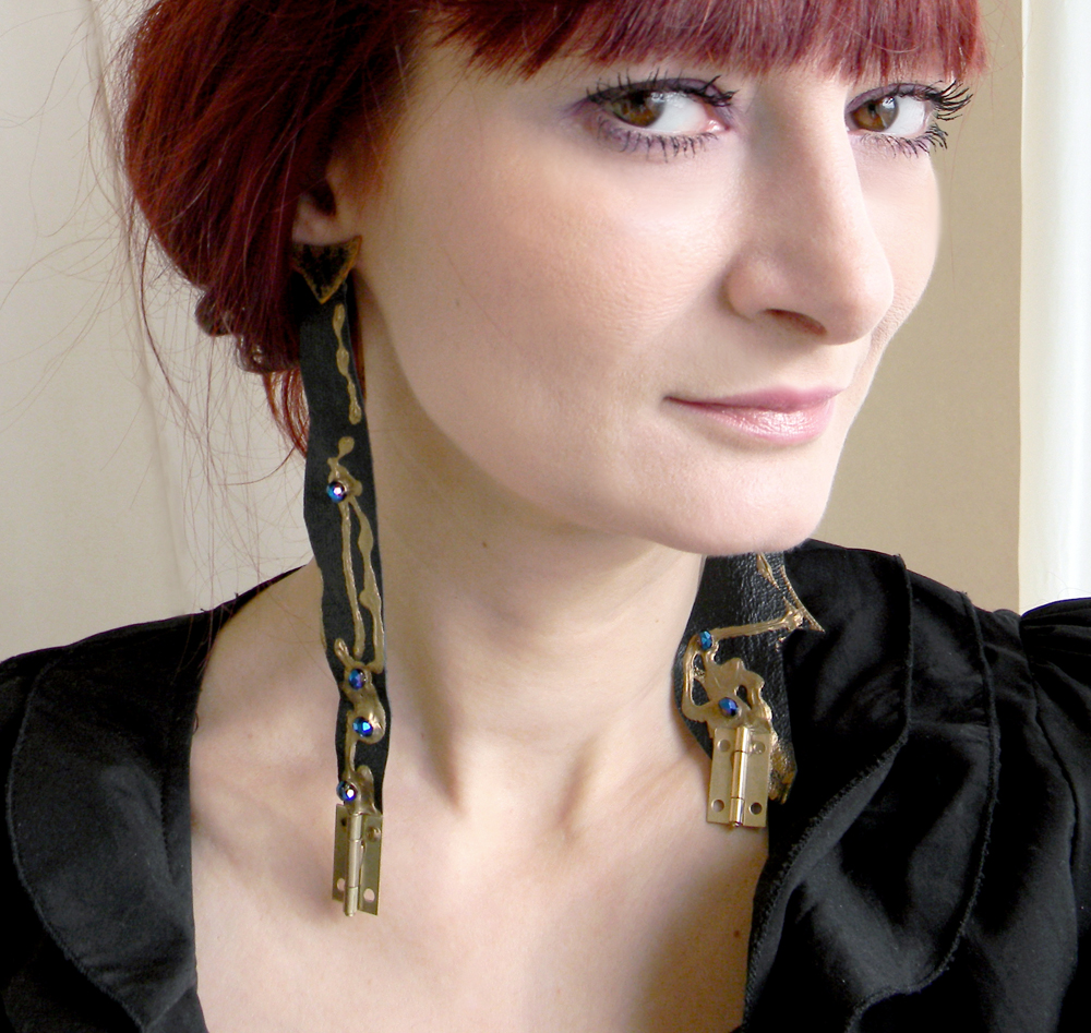 Unique Original Jewelry Steampunk Fashion Earrings Handcrafted Art Jewelry