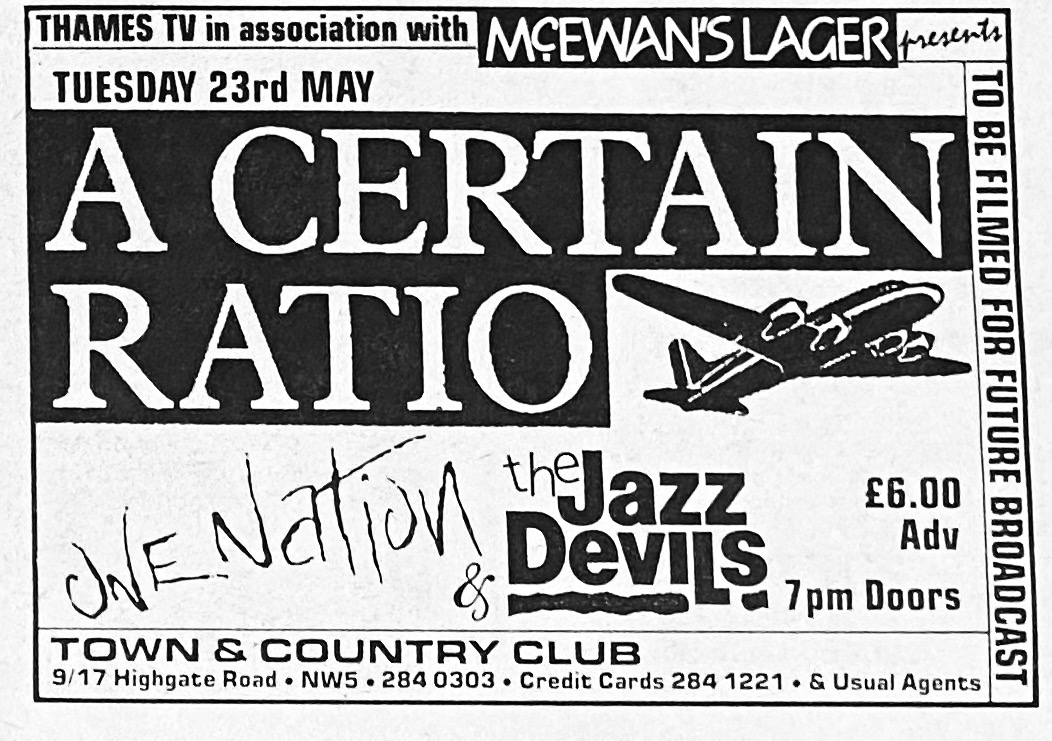 23 May 1989, Town and Country Club, London - ACR Gigography