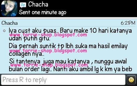 Testimoni Emilay Collagen Premium Whitening