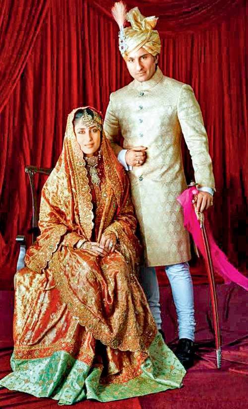 Kareena kapoor and saif ali khan the wedding ...