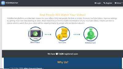 Ean free coins by watching YouTube videos - vidswatcher Untitled