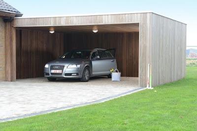 Model garasi samping rumah