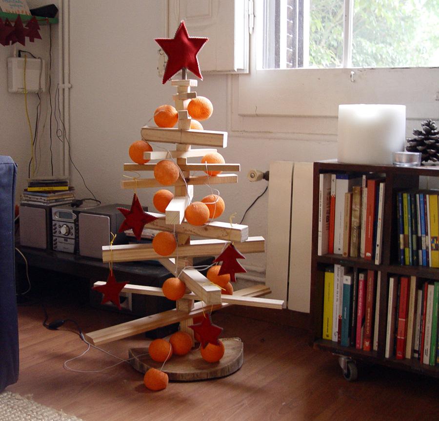 La maleta de pochola un rbol de navidad casero for Adornos para arbol de navidad caseros