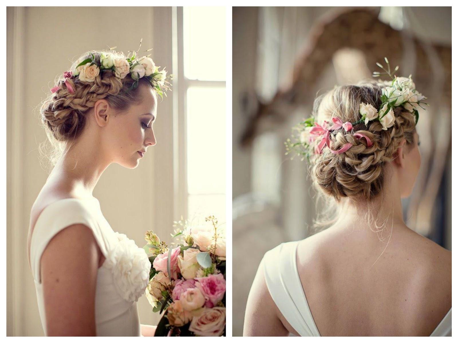 Peinados de novia con flores naturales elainacortez - Como hacer peinado para boda ...