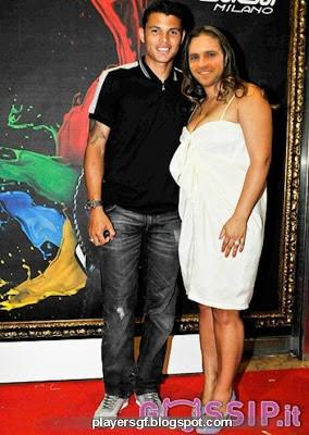 Thiago Silva and Isabele