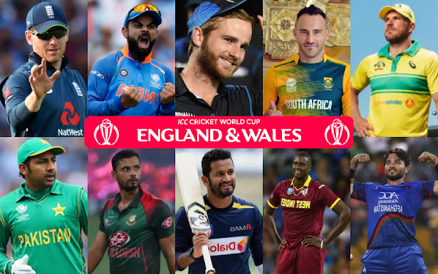 Cricket World Cup 2019 Squads