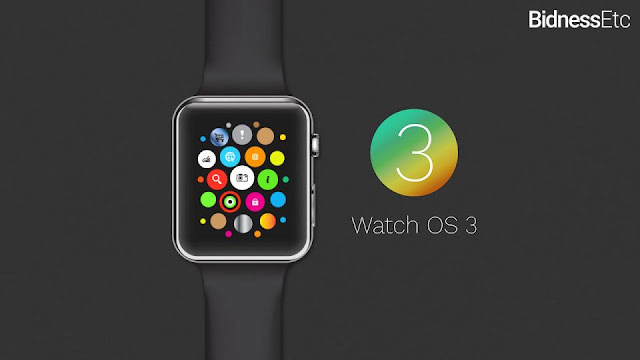 WatchOS 3 get update new elements and faster