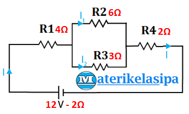 Gambar contoh soal rangkaian listrik hambatan seri dan pararel
