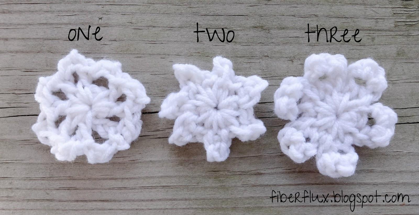 Fiber Flux: Free Crochet Pattern...One Round Snowflakes (3 ...