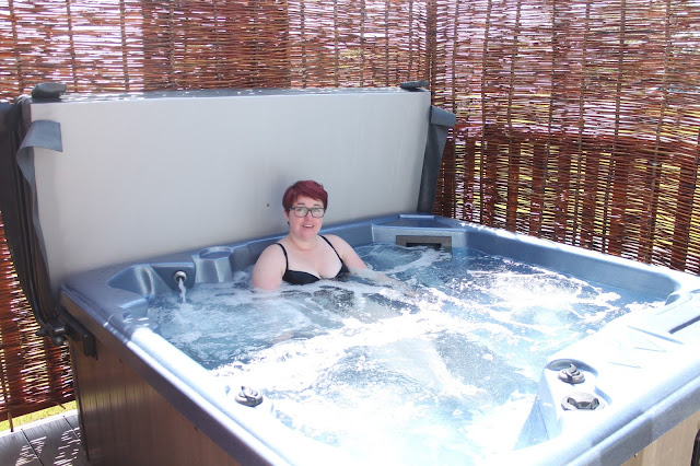 hot tub in john fowler sandy meadow park brean somerset burnham on sea