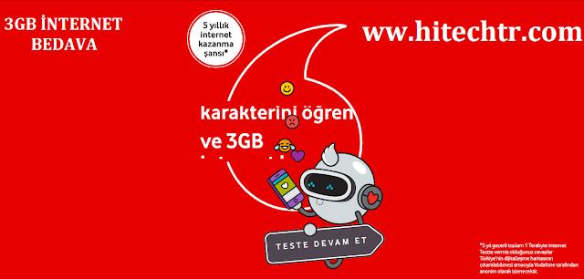 Vodafone, Vodafone Bedava İnternet, Bedava İnternet, Vodafone Ücretsiz İnternet, hediye İnternet