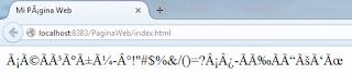 Visualización errónea de caracteres y acentos en una página web.
