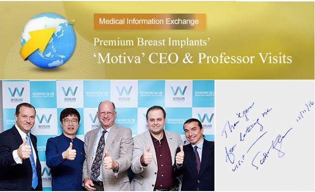 짱이뻐! - CEO & Associate Professors of Premium Breast Implant 'MOTIVA' visits Wonjin