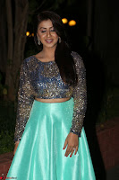 Nikki Galrani in Green Skirt  Top at Marakathamani music launch ~  Exclusive (27).JPG