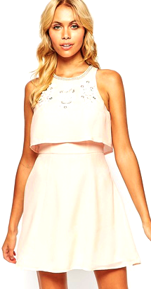 Embellished Crop Top Skater Dress from ASOS $24