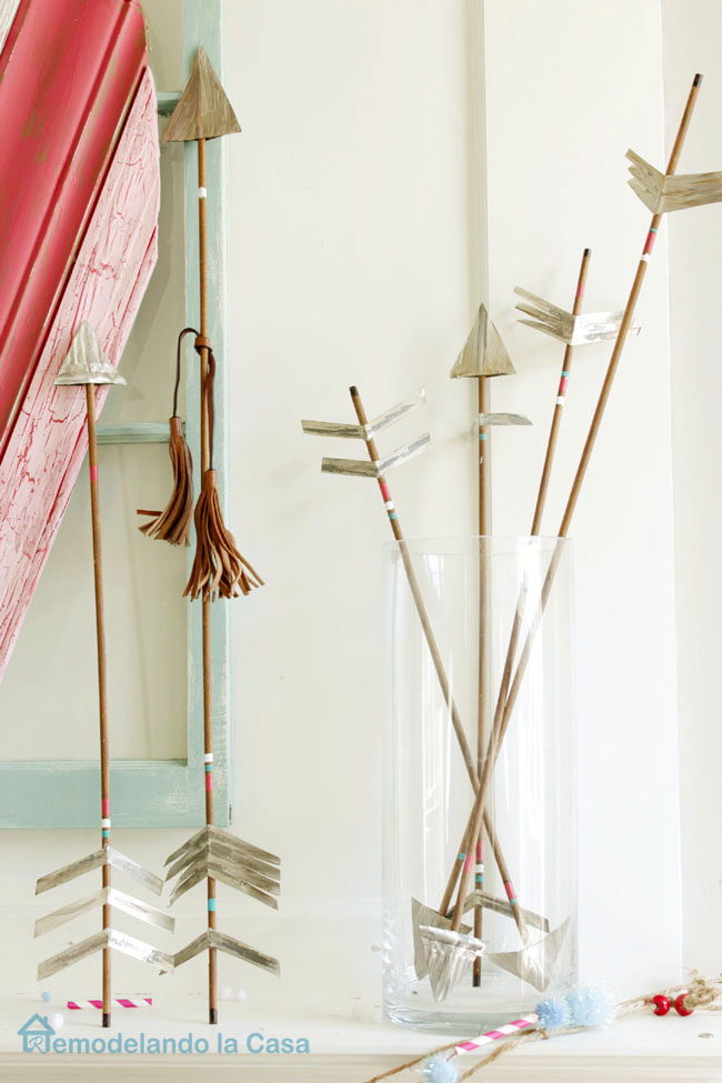 diy dowel made arrows for decor