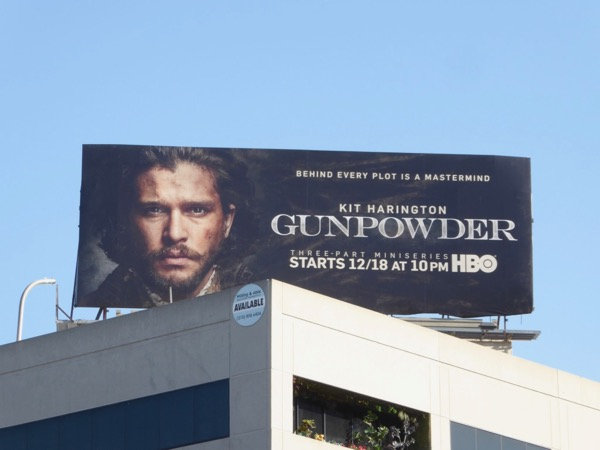 Gunpowder series launch billboard