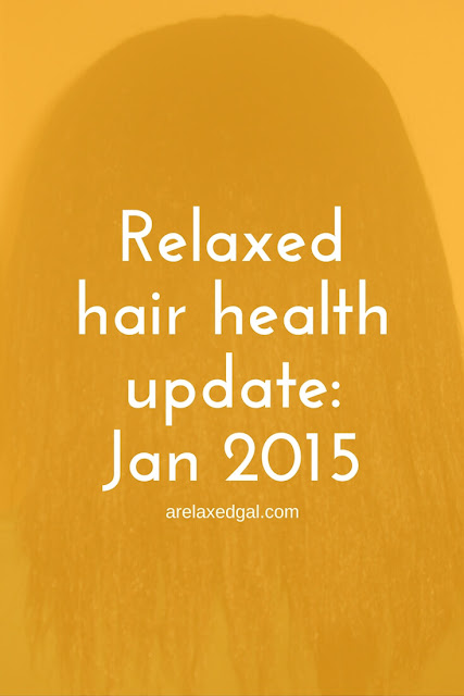 A Relaxed Gal shares a January relaxed hair update and her February goals. | arelaxedgal.com